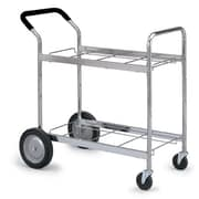 Charnstrom Medium Double Decker File Cart with Cushioned Handle Grip