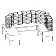 Charnstrom U-Shape 104 Pocket Storage Table