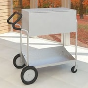 Charnstrom Medium File Cart w/ Rear Tires, Locking Top and Cushioned Ergo Handle