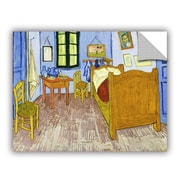 ArtWall The Bedroom by Vincent Van Gogh Art Appeelz Removable Wall Mural; 14'' H x 18'' W x 0.1'' D