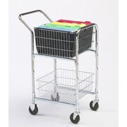 Charnstrom Compact File Cart with Bolt in Basket