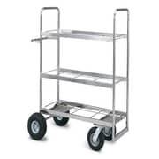 Charnstrom Medium Triple Decker File Cart; Air Casters / Tires
