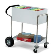 Charnstrom Medium File Cart with Ergo Handle and Rear Air Tires