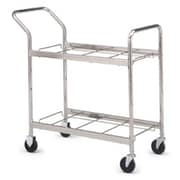 Charnstrom Medium Double-Decker File Cart w/ Caster