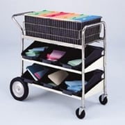 Charnstrom Medium Basket File Cart with 2 Lower Shelves