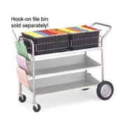 Charnstrom Extra Long Transport File Cart with 2 Lower Shelves