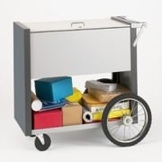 Charnstrom Medium File Cart w/ Rear Wheels w/ Locking Top