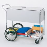Charnstrom Long Solid File Cart with Locking Top and Rear Tires