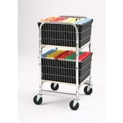 Charnstrom Compact Office File Cart with 2 File Baskets