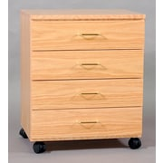 SMIProducts Vanguard 22.5'' 4 Drawer Taboret; Medium (Golden Oak) Stained