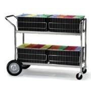 Charnstrom File Cart with 4 File Folder Basket