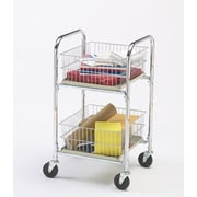 Charnstrom Compact File Cart with Removable Parcel Basket