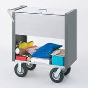 Charnstrom Medium Solid File Cart w/ Locking Top and Caster