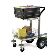 Charnstrom Compact Wire Basket File Cart