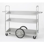 Charnstrom Extra Long Triple Decker Utility Cart with Center Tires