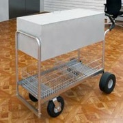Charnstrom Long File Cart w/ Casters and Rear Tires and Easy Push Handle; Air Caster / Tire