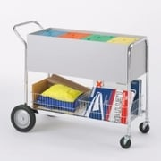 Charnstrom Long Solid File Cart with Rear Tires