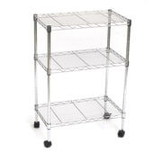 Seville Classics Home-Style 32'' H 3-Shelf Steel Wire Shelving/Cart