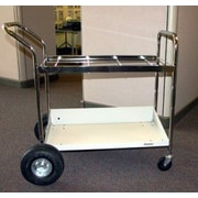 Charnstrom Medium Utility Cart with Lower Shelf and Air Tires