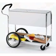 Charnstrom Long File Cart with Rear Tires and Cushioned Ergo Handle