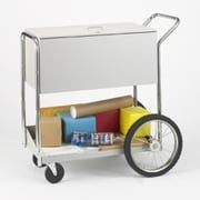 Charnstrom Medium Locking File Cart with Rear Wheels