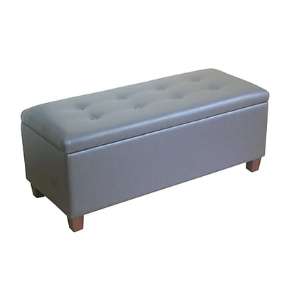HomePop Upholstered Storage Bench; Charcoal Gray WYF078277540112