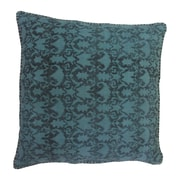 Moe's Home Collection Paragon Cotton Throw pillow; Turquoise