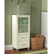 TMS Frosted Pane 2 Drawer Linen Cabinet