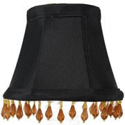 Home Concept 5'' Classics Brass Bell Lamp Shade; Black