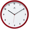 Infinity Instruments Cirrus 12'' Wall Clock; Red