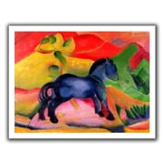 ArtWall 'Little Blue Horse' by Franz Marc Painting Print on Canvas; 40'' H x 52'' W