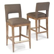Fairfield Chair 25.5'' Bar Stool with Cushion; Harvest