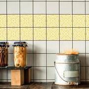 Odhams Press Retile Retro Daisies Wall Decal (Set of 10); Yellow on White