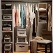 Richards Homewares Nature of Storage Canvas Natural 3 Shelf Sweater Organizer