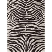 Nourison Splendor Black White Rug; 7'6'' x 9'6''