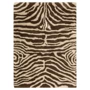 Nourison Splendor Ivory Brown Rug; 7'6'' x 9'6''