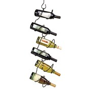 Oenophilia Climbing Tendril 6 Bottle Hanging Wine Rack; Black