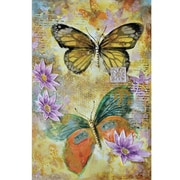 Yosemite Home Decor Revealed Art Butterfly Garden II Original Painting on Wrapped Canvas