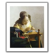 ArtWall 'The Lacemaker' by Johannes Vermeer Canvas Poster; 48'' H x 40'' W