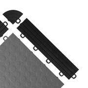 BlockTile Interlocking Ramp Edges in Black with Loops