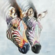 Yosemite Home Decor Revealed Artwork Zebras in Color Painting Print on Wrapped Canvas