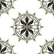 Odhams Press Retile Regency Wall Decal (Set of 10); Sage on White
