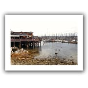 ArtWall 'Old Fishermans Wharf California' by Linda Parker Canvas Poster; 52'' H x 36'' W