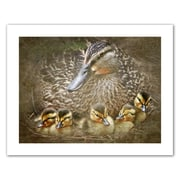 ArtWall Baby Ducks' by Antonio Raggio Photographic Print on Rolled Canvas; 28'' H x 36'' W