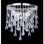 Avenue Lighting Hollywood Blvd. 2 Light Glass Tear Drops Round Wall Sconce