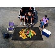 FANMATS NHL - Chicago Blackhawks Ultility Mat; 5' x 6'