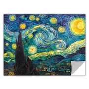 ArtWall ArtApeelz 'Starry Night' by Vincent Van Gogh Painting Print; 14'' H x 18'' W x 0.1'' D