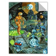 ArtWall ArtApeelz 'Robots' by Luis Peres Graphic Art Removable Wall Decal; 48'' H x 32'' W x 0.1'' D