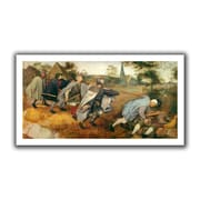 ArtWall 'Parable of the Blind' by Pieter Bruegel Canvas Poster; 22'' H x 40'' W