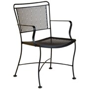 Woodard Constantine Dining Arm Chair; Graphite